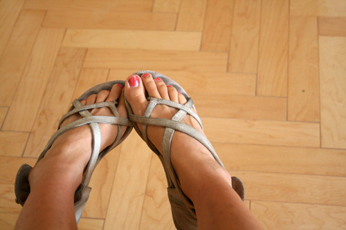 I am now trying to even out my tan, no thanks to these shoes. They also happen to be my favorite!