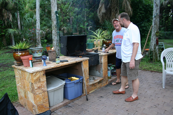 It's like an outdoor kitchen!