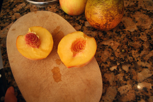 I cut up some fruits to go with our pancakes... FOR DINNER!