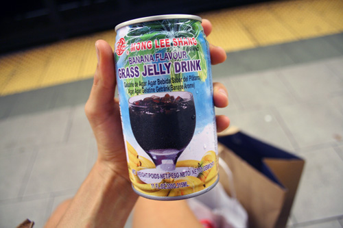Banana Flavor Grass Jelly Drink