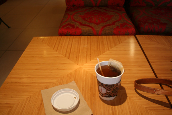Enjoyed a nice cup of chocolate almond tea.