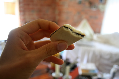 A cold Milano cookie.