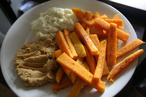 Butternut squash fries!