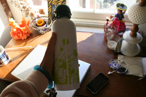 Oh! I also got a pretty new water bottle.