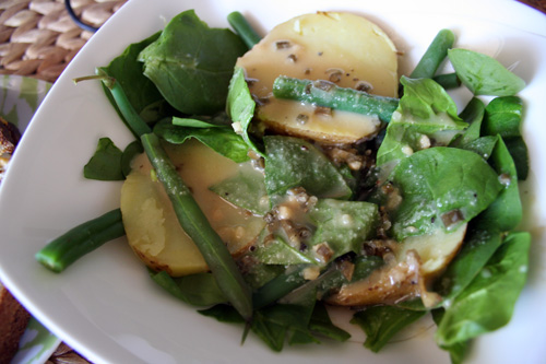 Green Bean and Fingerling Potato Salad with Miso Dressing